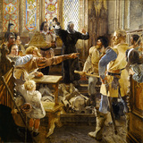 BERNARD GILPIN IN A SCENE IN ROTHBURY CHURCH IN REFORMATION TIMES by William Bell Scott (1811-1890)