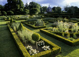 Horizontal view of the parterre at Westbury Court Garden