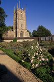 View of Avebury Manor garden and church