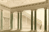 ARCHITECTURAL PLANS OF THE HOUSE: THE ENTRANCE HALL by George Steuart in the West Passage at Attingham Park, illustrating the developments of Attingham during the 1780s