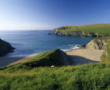 View from the South side of Porth Joke looking towards West Pentire Point