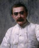 `RUDYARD KIPLING 1891' by John Collier (1850-1934)