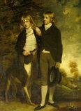THE HON. JOHN CUST (1779-1853) AND HIS BROTHER THE HON. HENRY CUST (1780-1861) by John Hoppner, R.A. 1795