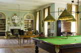 The Billiard Room, designed by Ambrose Poynter in 1903-5, at Polesden Lacey, nr Dorking, Surrey