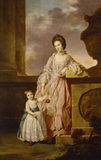 LADY FRANCES GREVILLE WITH HER SON HENRY (the future 7th Bt.) by Tilly Kettle (1735-1786).