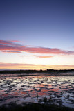 A view at sunrise over the saltmarsh at East Head, a spit of land on the East side of Chichester Harbour, West Sussex