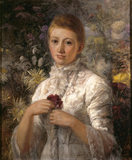 FLORA ST CLARE MANDER, the wife of the builder of Wightwick Manor, Theodore Mander