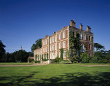 View of the entrance front of Gunby Hall taken from the lawn
