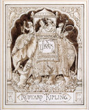 Original artwork for Kipling's Bookplate, in the Study