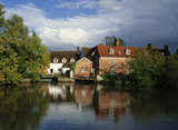 Flatford Mill seen across the river Stour