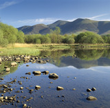 Derwentwater in the Lake District, looking towards Skiddaw (not NT) from near the Keswick landing stage