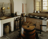 Room view of the Dairy Scullery showing the equipment used for the making of dairy products