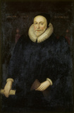 Portrait of Richard Brownlow (1553-1638), English School, 1624, in the Chapel Drawing Room at Belton House