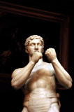 Close view of The British Pugilist sculpture (1828), also called Athleta Britannicus, by John Charles Felix Rossi (1762-1839) in the Gallery at Petworth House