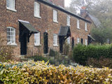 Exterior of the front of Oak Cottages, built for the mill workers at Quarry Bank Mill, Styal