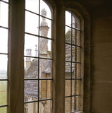 Barrington Court - Looking through a window in the Long Gallery at Barrington Court