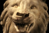 Detail of a Gryphon face from a pair of table legs in the North Gallery at Petworth House