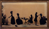 Silhouette of the Parminters from A la Ronde