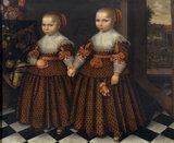 TWO GIRLS HOLDING HANDS, Dutch (Frisian) School, 17th century, at Dudmaston, Shropshire