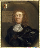 AMBROSE ELTON OF THE HAZLE (1621-1691), oil on canvas (attrib) Peter Borselaer in the Private Library at Clevedon Court