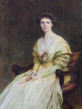 FRANCES RICHARDSON, MRS JULIUS DREWE, (1871-1954), by Louisa Starr, Mme Canziani (1845-1909), signed and dated 1889, in the Drawing Room at Castle Drogo, Devon