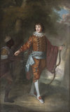 John Delaval with his African servant by W Bell,   painting at Seaton Delaval Hall, Northumberland