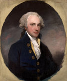 RICHARD COFFIN, a portrait by Gilbert Stuart (North Kingstown, Rhode Island 1755 - Boston 1828) in the Library at Saltram.