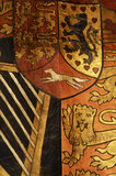 Banner of the Duke of Cambridge from his stall at St George's, Windsor, part of the Charles Wade collection in Meridian, Snowshill Manor