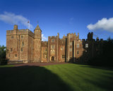 The North Front of Dunster Castle in the early evening sunshine
