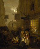 THE FOUR TIMES OF DAY: NIGHT by William Hogarth (1697-1764) from Upton House