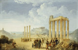 THE OLYMPION AT ATHENS WITH THE ACROPOLIS IN THE DISTANCE, by Louis -francois Cassas