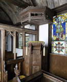 The Hooded Pulpit in the Tudor Chapel at Ightham Mote in Kent