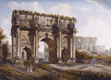 THE ARCH OF CONSTANTINE, by Abraham Louis Ducros (1748-1810); watercolour and gouache; 30