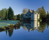 A view of Scotney Castle, taken on a frosty bright clear day
