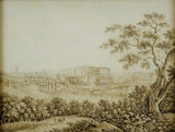 AN EXTENSIVE VIEW OF ROME WITH THE COLOSSEUM; by Franz Kaiserman (1765-1833) at Florence Court post conservation