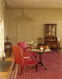 View towards the door of the Drawing Room at Wordsworth House, home of the Wordsworth family in the 1770s