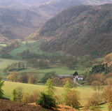 A view of Yew Tree Farm in the Lake District, which was previously owned by Beatrix Potter