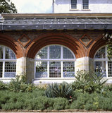 View looking towards the windows of the Conservatory at Standen