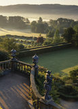 View from the Top Terrace in the garden at Powis Castle taken at dawn