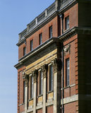 An oblique view of the south front of Clandon House, showing the elaborate ornamentations