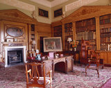 View of the Library at Nostell Priory: the first room to be remodelled by Robert Adam