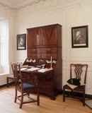 View of John Wordsworth's desk, open and covered with papers in the Front Office of Wordsworth House, home of the Wordsworth family in the 1770s