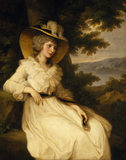 LADY ELIZABETH FOSTER 1785 by Angelica Kauffman