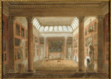 THE PICTURE GALLERY by Augustus Charles Pugin, c 1805