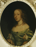 Unknown Bourchier lady c.1650 from over the door in Lady Chesterfield's room.