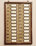 The Room Number Board in the Servants' Area. The room plan shows who was staying in each room during the visit of the Prince and Princess of Wales in 1887.