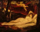 SLEEPING VENUS AND CUPID by John Hoppner (c1758-1810) Painted for Sir John Leicester in 1806