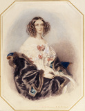 MARY ANNE EVANS, MRS BENJAMIN DISRAELI 1840 by R.A.Chalon (33)