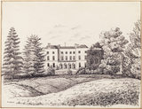 """HUGHENDEN MANOR 1840"" a pen drawing by R. Green"