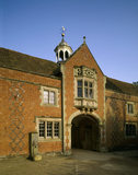 One of the outbuildings at Charlecote view of an arch with a bay-window above